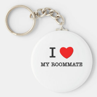 I Love My Roommate Basic Round Button Key Ring