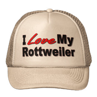 I Love My Rottweiler Dog Gifts and Apparel Cap