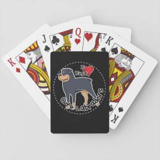 I Love My Rottweiler Dog Playing Cards