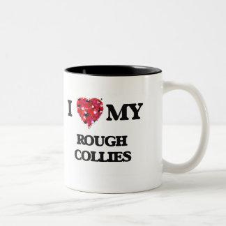 I love my Rough Collie Two-Tone Mug