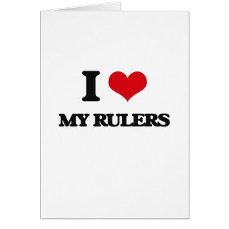 I Love My Rulers Card