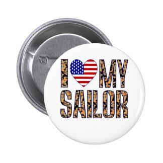 I Love My Sailor Button