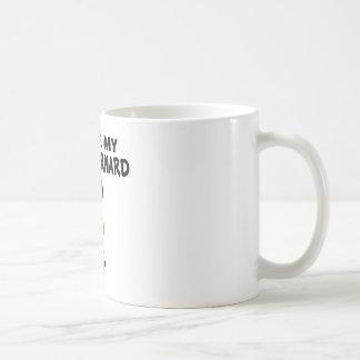 I Love My Saint Bernard Dog Designs Coffee Mug