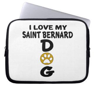I Love My Saint Bernard Dog Designs Computer Sleeve