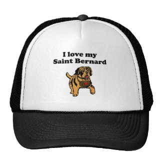 I Love My Saint Bernard Mesh Hat