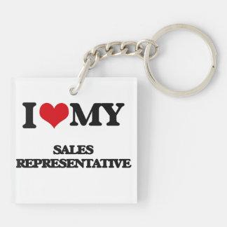I love my Sales Representative Acrylic Keychain