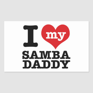 I love my Samba Dancer Daddy Rectangular Sticker