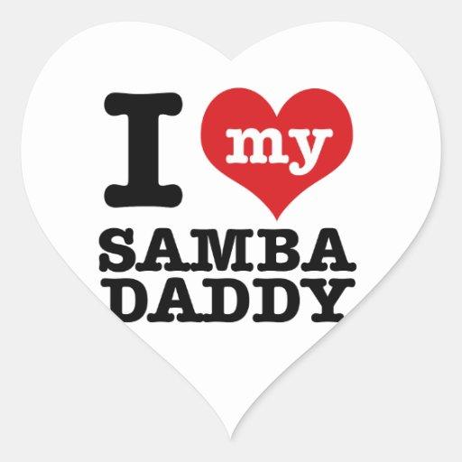 I love my Samba Dancer Daddy Heart Stickers