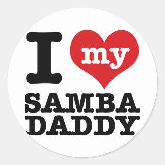 I love my Samba Dancer Daddy Sticker