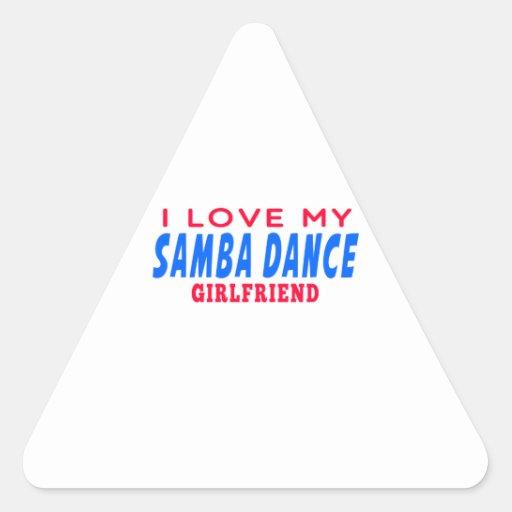 I Love My Samba Girlfriend Sticker