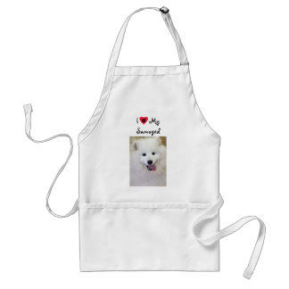 I Love My Samoyed Dog Breed Apron