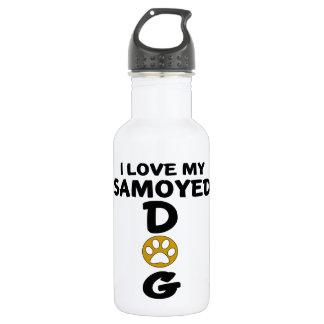 I Love My Samoyed Dog Designs 532 Ml Water Bottle