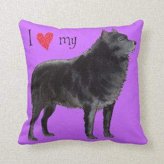 I Love my Schipperke Cushion