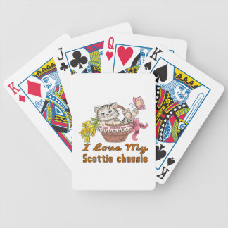 I Love My Scottie chausie Bicycle Playing Cards