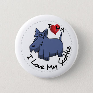I Love My Scottie Dog 6 Cm Round Badge