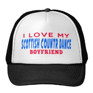 I Love My Scottish Country Boyfriend Hats