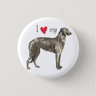 I Love my Scottish Deerhound 3 Cm Round Badge