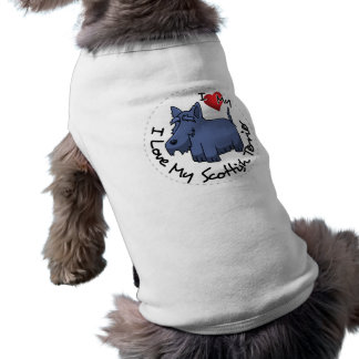 I Love My Scottish Terrier Dog Shirt