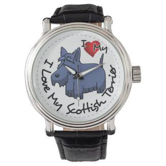 I Love My Scottish Terrier Dog Watch