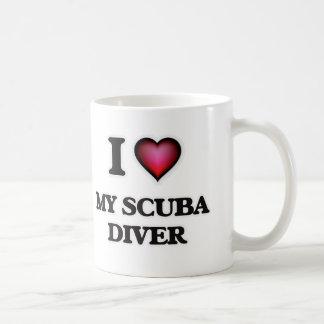 I Love My Scuba Diver Coffee Mug