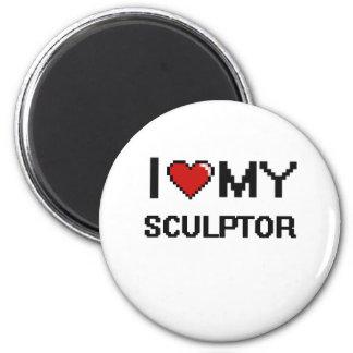I love my Sculptor 2 Inch Round Magnet