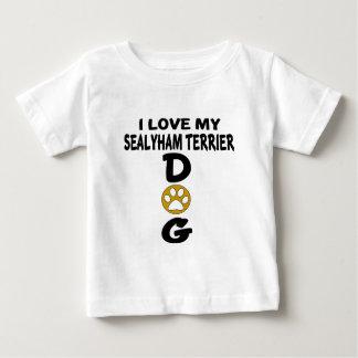 I Love My Sealyham Terrier Dog Designs Baby T-Shirt