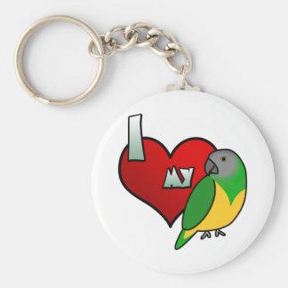 I Love my Senegal Parrot Keychain