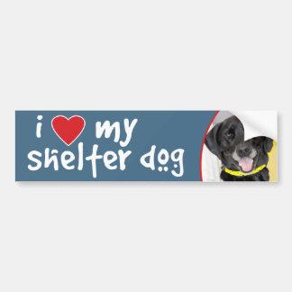 I Love My Shelter Dog Black Lab Mix Bumper Sticker