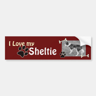 I love my Sheltie Bumper Sticker