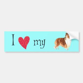I Love my Sheltie Bumper Sticker