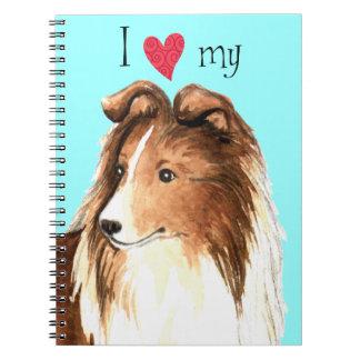 I Love my Sheltie Note Book