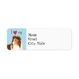 I Love my Sheltie Return Address Label