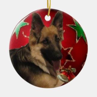 I Love My Shepherd ornament