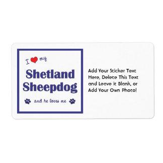 I Love My Shetland Sheepdog (Male Dog)