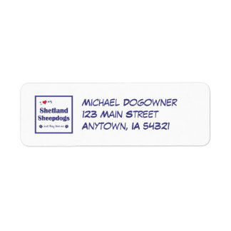 I Love My Shetland Sheepdogs (Multiple Dogs) Return Address Label