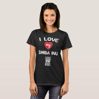I love my Shiba Inu Face Graphic Art T-Shirt