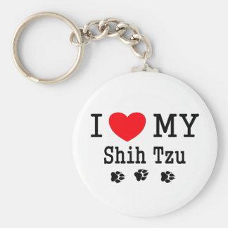 I Love My Shih Tzu! Basic Round Button Key Ring