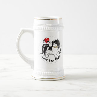 I Love My Shih Tzu Dog Beer Stein