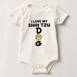 I Love My Shih Tzu Dog Designs Baby Bodysuit