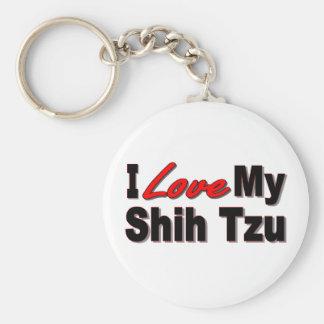 I Love My Shih Tzu Dog Keychain
