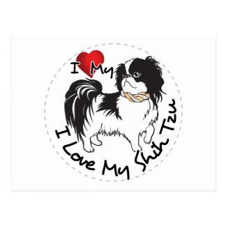 I Love My Shih Tzu Dog Postcard