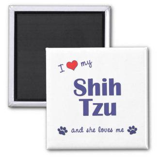 I Love My Shih Tzu (Female Dogs) Magnet