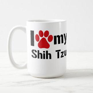 I Love My Shih Tzu Basic White Mug