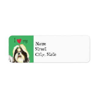 I Love my Shih Tzu Return Address Label