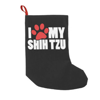 I love my Shih Tzu Small Christmas Stocking