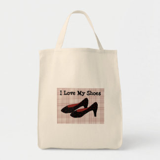 I Love My Shoes Grocery Tote Bag