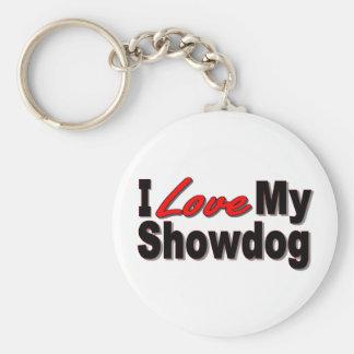 I Love My Showdog Keychain Basic Round Button Keychain