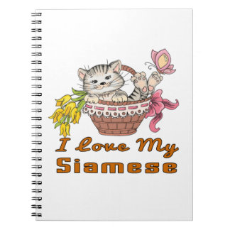 I Love My Siamese Notebook