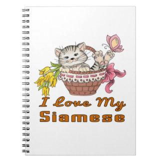 I Love My Siamese Notebooks
