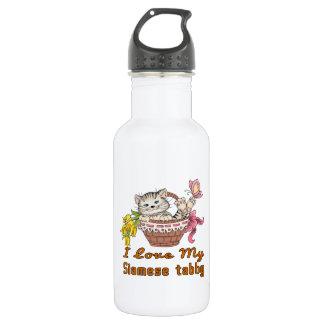 I Love My Siamese tabby 532 Ml Water Bottle